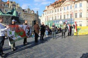 Kundgebungsplatz in Prag