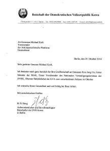 2014-10-20 - DVRK-Botschaft - Dankbrief