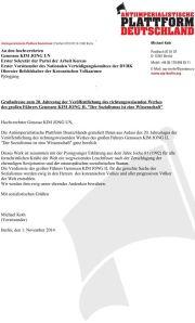 2014-11-01_Grussadresse_20-Jahrestag_Veroeffentlichung_KIM-JONG-IL-Der-Sozialismus-ist-eine-Wissenschaft_End