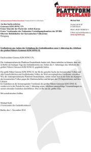 2014-11-01_Grussadresse_Gründung_Gedenkkomitee_3_Jahrestag_Ableben_KIM_JONG_IL_End
