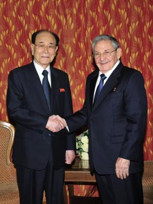 Kim Yong Nam trifft Raúl Castro Ruz - 150508