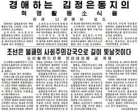 150520 - RS - 01 - AiP - 경애하는 김정은동지의 혁명활동소식을 여러 나라에서 보도 - 조선은 불패의 사회주의강국으로 길이 빛날것이다 - 도이췰란드단체 인터네트에 글 게재 - Schnitt