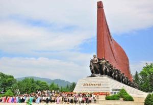 150604 - RS - Pochonbo Monument - 백두의 칼바람정신이 천만군민을 부른다