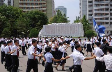150720 - RS - Teilnahme an den Kommunalwahlen teil - 03 - 김책공업종합대학에서