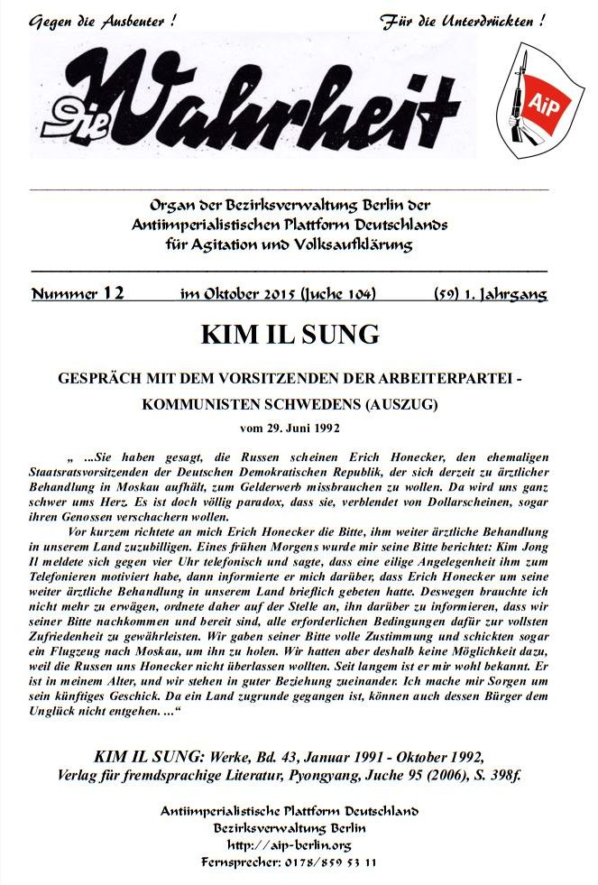 DW - 012 - KIM IL SUNG