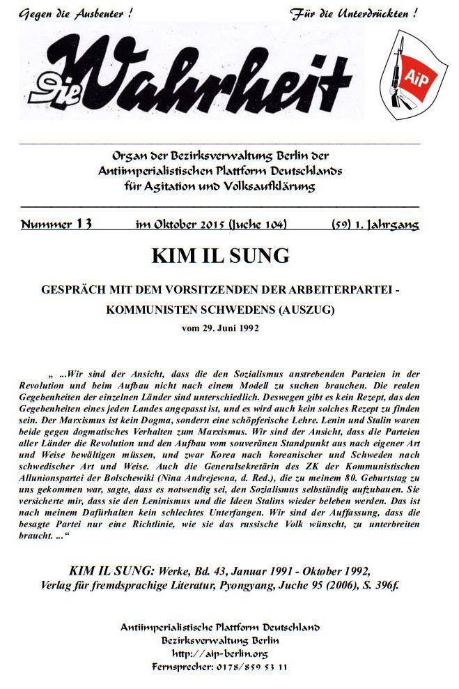DW - 013 - KIM IL SUNG