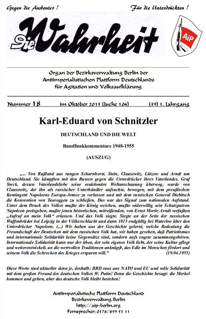 DW - 018 - Schnitzler Rundfunkansprachen 1948-55