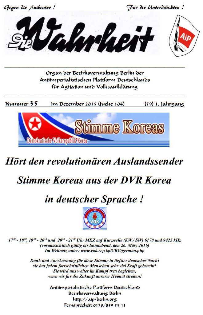 DW - 035 - Stimme Koreas
