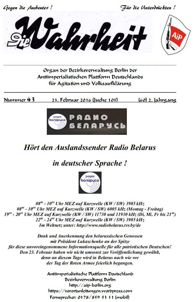 DW - 043 - Radio Belarus