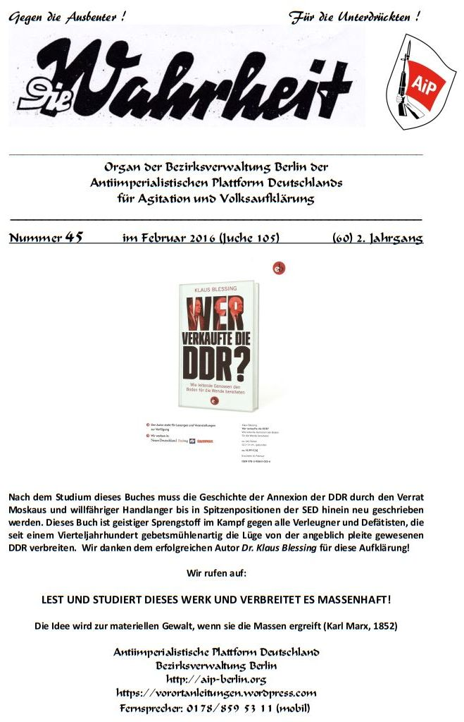 DW - 045 - Blessi - Wer verkaufte die DDR