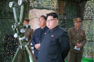 160424 - 조선의 오늘 - KIM JONG UN - Marschall KIM JONG UN leitete einen Unterwasserschießtest der ballistischen Rakete vom strategischen U-Boot - 01 - 전략잠수함 탄도탄수중시험발사에서 또다시 대성공 경애하는 김정은동지께서 시험발사를 현지에서 지도하시였다