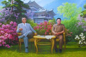 KIM IL SUNG KIM JONG IL Gemälde Myohyangsan
