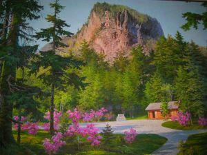 KIM JONG IL Geburtshaus Gemälde bearbeitet 2
