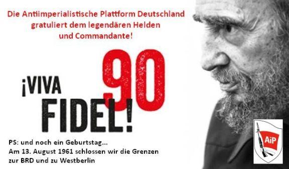 Fidel Castro 90. Geburtstag