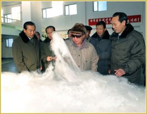 170216-naenara-kim-jong-il-patriot-aller-zeiten-048-kim-jong-il-sucht-das-vereinigte-vinalonwerk-8-februar-auf-und-sieht-die-vinalon-watte-an-januar-2011